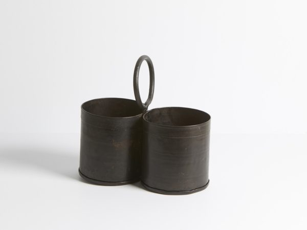 Doubble Hanging Iron Pot