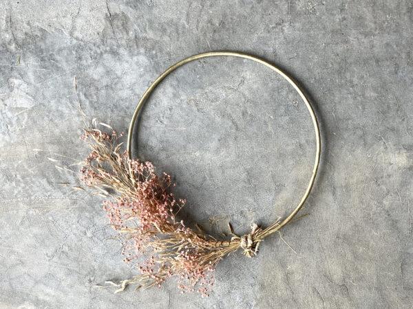 Gold Pink Wreath