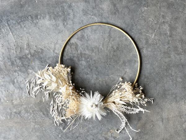 Gold White Wreath